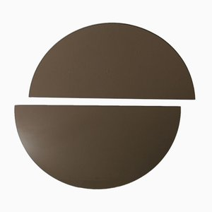 Luna™ Half Moon Bronze Tinted Frameless Minimalist Mirror Medium by Alguacil & Perkoff Ltd, Set of 2