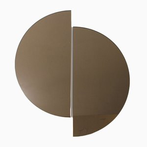 Luna™ Half Moon Bronze Tinted Frameless Minimalist Mirror Large by Alguacil & Perkoff Ltd, Set of 2