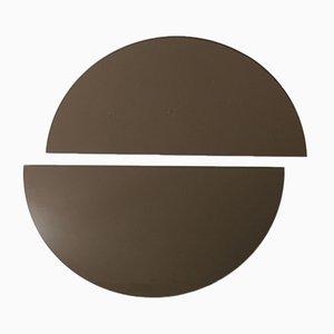 Luna™ Half Moon Bronze Tinted Frameless Mirror Oversized by Alguacil & Perkoff Ltd, Set of 2