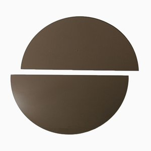 Luna™ Half Moon Bronze Tinted Frameless Mirror Oversized by Alguacil & Perkoff Ltd, Set of 2