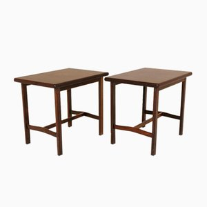 Rosewood Nightstands, 1960s, Set of 2