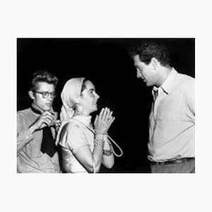 James Dean, Elizabeth Taylor & Rock Hudson Archival Pigment Print Framed in White by Everett Collection