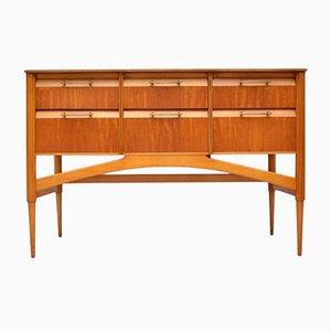 Vintage Satinholz Sideboard, 1950er