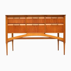 Vintage Satinwood Sideboard, 1950s