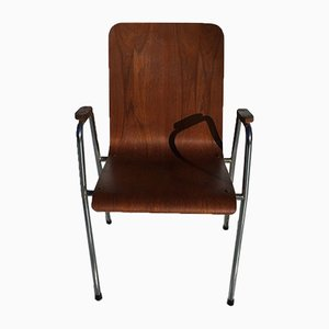 Teak Side Chairs, 1960s, Set of 4