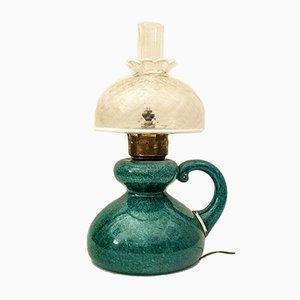 Murano Glas Tischlampe mit Messing Details von Seguso, 1950er