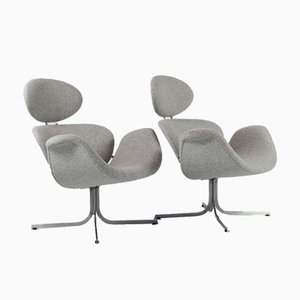 Big f551 Tulip Lounge Chairs by Pierre Paulin for Artifort, 1959, Set of 2