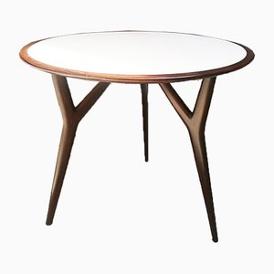 Mid-Century Italian Round Solid Wood Table by Ico Parisi, 1950s