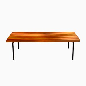 Cherry Bars Bench on Metal Base, 1980s