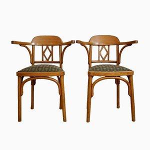 Sillas Vienna Secession de madera curvada de Jacob & Josef Kohn, 1916. Juego de 2