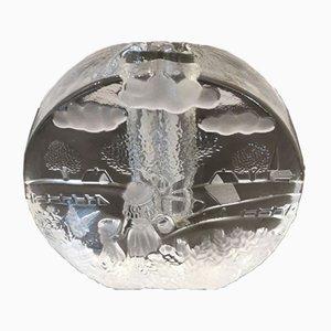 Deutsche Mid-Century Soliflore Vase aus Glas von Walther Glas, 1960er