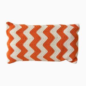 Cuscino Zig Zag arancione Geomatico di Com Raiz