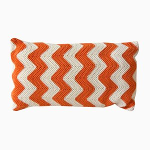 Orange Zig Zag Geométrica Cushion from Com Raiz