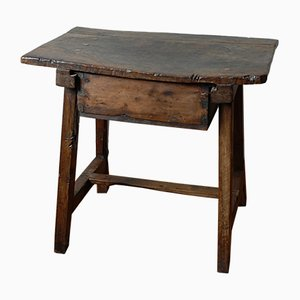 Antique 18th-Century Spanish Walnut Side Table