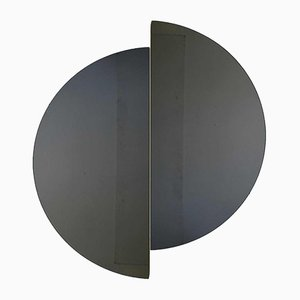 Luna™ Half Moon Black Tinted Frameless Mirror Oversized by Alguacil & Perkoff Ltd, Set of 2