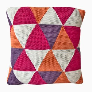 Strong Pink Triangles Geométrica Cushion from Com Raiz