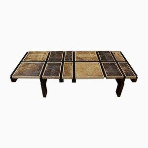 Table Basse avec Structure en Palissandre et Structure en Palissandre par Roger Capron, 1950s