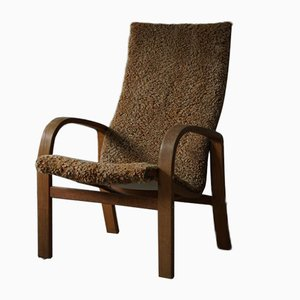 Scandinavian Modern Sessel aus Schafsfell, 1960er
