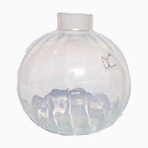 Vaso vintage in vetro di Murano e opale di Nason, Luca Vestidello, Ribes e Mar'yana Iskra per V. Nason & C, anni '60