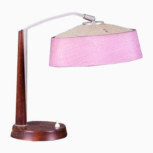 Dänische Teak und Metall Tischlampe, 1950er