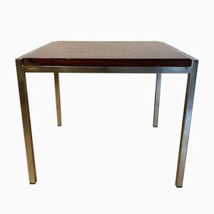 Rosewood & Chrome Side Table, 1960s