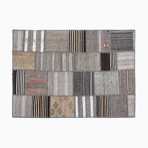 Mid-Century Kilim with Patchwork