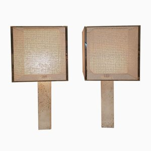 Travertine Table Lamps by Fratelli Mannelli, Italy, 1970s, Set of 2