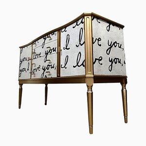 Vintage Bespoke I Love You Sideboard TV Unit