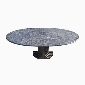Vintage Grey Marble Samo Dining Table by Carlo Scarpa