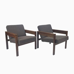 Wengé sz25/sz80 Lounge Chairs by Hein Stolle for 't Spectrum, 1960s, Set of 2