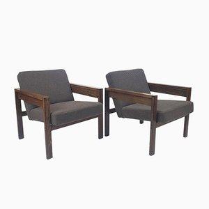 Wengé sz25 / sz80 Sessel von Hein Stolle für 't Spectrum, 1960er, 2er Set