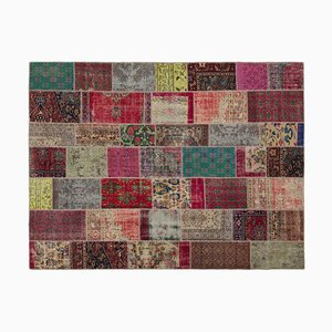 Tappeto Mid-Century con patchwork