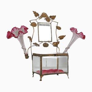 Napoleon III French Bridal Bevelled Glass Jewelry Box