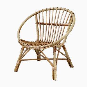Rattan Basket Children's Chair, 1960s
