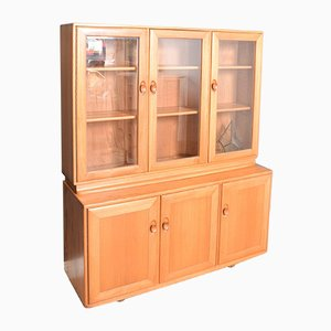 Vintage Glazed Blond Elm Model 806,803 3-Door Windsor Cabinet from Ercol