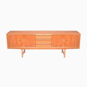 Danish Style Teak Long Sideboard Cabinet, 1960s