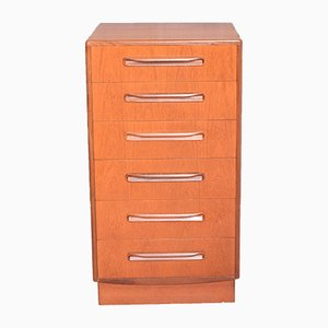 Tall Teak Fresco Chest of 6-Drawers from G-Plan, 1960s