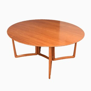 Table de Salle à Manger Gateleg en Teck par Peter Hvidt & Orla Mølgaard Nielsen pour France & Søn, 1950s
