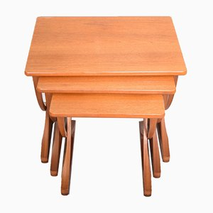 Danish Style Teak Nesting Tables from Nathan, 1960s