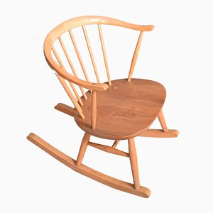 Rocking Chair Modèle 452 Cowhorn de Ercol, 1960s