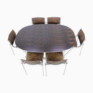 Mesa de comedor Super Ellipse de palisandro de Piet Hein para Fritz Hansen, años 70