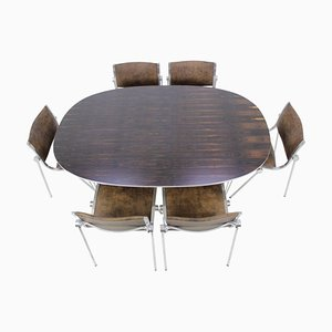 Rosewood Super Ellipse Dining Table by Piet Hein for Fritz Hansen, 1970s