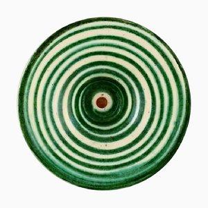 Bowl in Glazed Ceramic with Spiral Design from Kähler, Denmark, 1930s