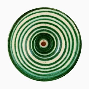 Schale aus Glasierter Keramik mit Spiral Design von Kähler, Denmark, 1930er
