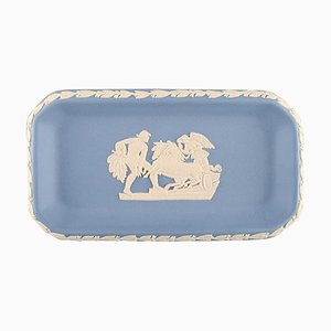 Small Dish in Light Blue Stoneware from Wedgwood, England, 1930s