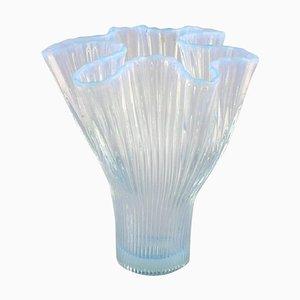 Veckla Vase in Light Blue Mouth Blown Art Glass by Arthur Percy for Gullaskruf