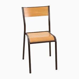 French Brown School Chair from Mullca, 1960s