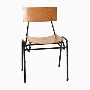 Sedia impilabile vintage nera di Remploy, anni '60
