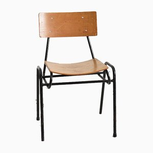 Vintage Black Stacking Chair from Remploy, 1960s