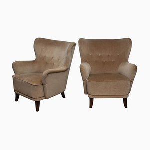 Lounge Club Chairs by Ilmari Lappalainen for Asko, Finland, 1950s, Set of 2
